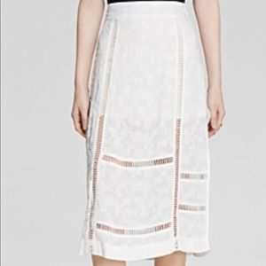 NEW NWT Free People Ivory Pencil Skirt size 8
